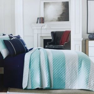 Tommy Hilfiger Queen Cabana Stripe Quilt Set
